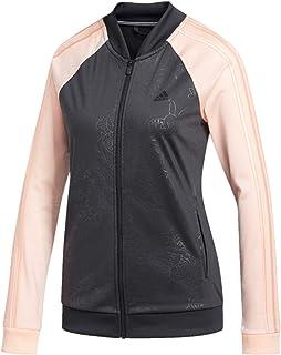 077f2bd98ea0 adidas Women s Embossed Print Track Jackets Full-Zip Climalite Jacket
