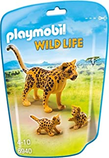 Playmobil Vida Salvaje- Leopardo con Crías Animales, Multicolor, 6 x 18 x 12,2 cm (Playmobil 6940)