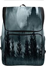 SCOCICI Computer Backpack,Magic Castle Silhouette over,Gift for Starting School