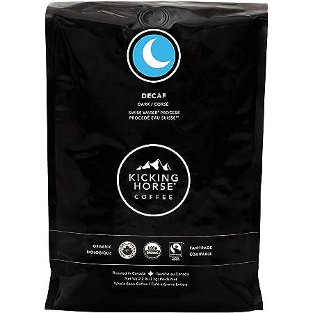 Kicking Horse Coffee, Decaf, Swiss Water Process, Dark Roast, Whole Bean, 2.2 Pound - Certified Organic, Fairtrade, Kosher Coffee, 35.2 Ounce