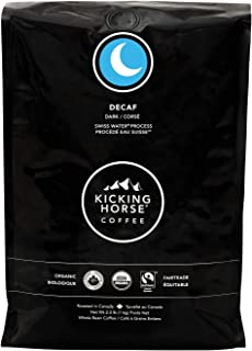 Kicking Horse Coffee, Decaf, Swiss Water Process, Dark Roast, Whole Bean, 2.2 Pound - Certified Organic, Fairtrade, Kosher Coffee, 35.2 Ounce