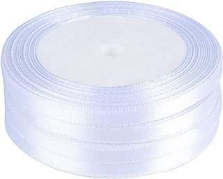 100 yardas Cinta de Raso Satén Seda Blanco 6mm para Embalaje Decoración de Regalo Cajas Flores Boda Navidad (Blanco-6mm*91m(100 yardas))