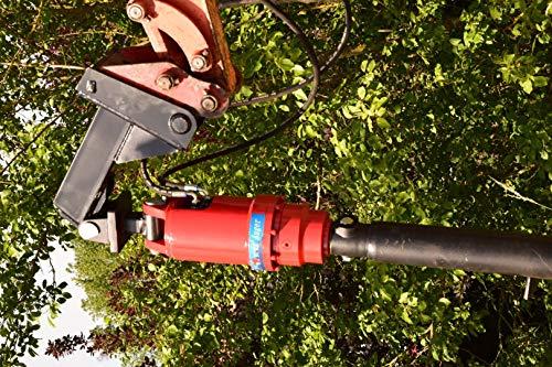 Erdbohrer für Minibagger mit oder ohne Bohrantrieb Zaunbau Bohrschnecke MS01 MS03 (nur Erdbohrer 300mmØ)