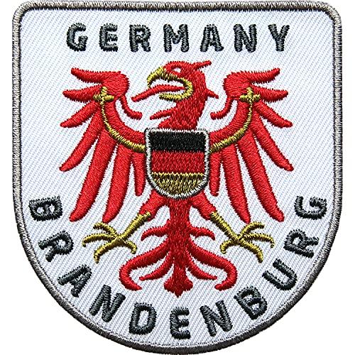 Club of Heroes 2 x Brandenburg Adler Patch gestickt 64 x 68 mm, Aufnäher Aufbügler, Bügelflicken/Flagge Wappen Deutschland Berlin Wanderführer Reiseführer Applikation zum Aufnähen Aufbügeln