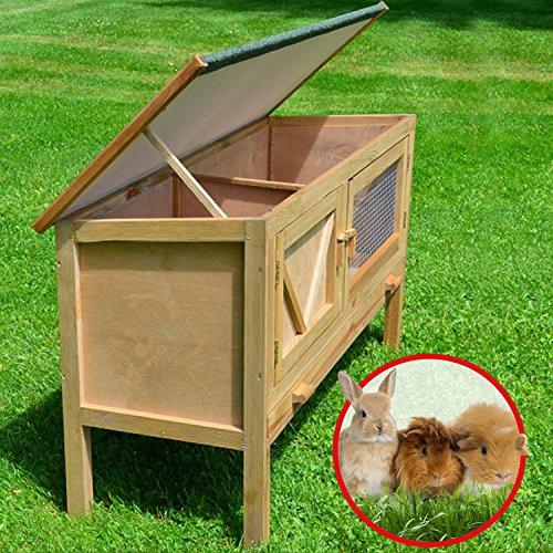"""ZooPrimus Kleintier-Stall Nr 24 Kaninchen-Käfig """"HASI"""" Meerschweinchen-Haus für Außenbereich (Geeignet für Kleintiere: Hasen, Kaninchen, Meerschweinchen usw.) - 6"""