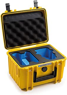B&W transportkoffer outdoor voor DJI Mini 2 / DJI Mini 2 Fly More Combo drone, type 2000, geel/waterdicht conform IP67-cer...
