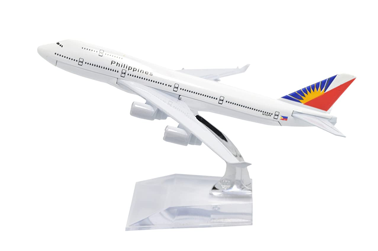 TANG DYNASTY(TM) 1:400 16cm Boeing B747-400 Philippine Airlines Metal Airplane Model Plane Toy Plane Model