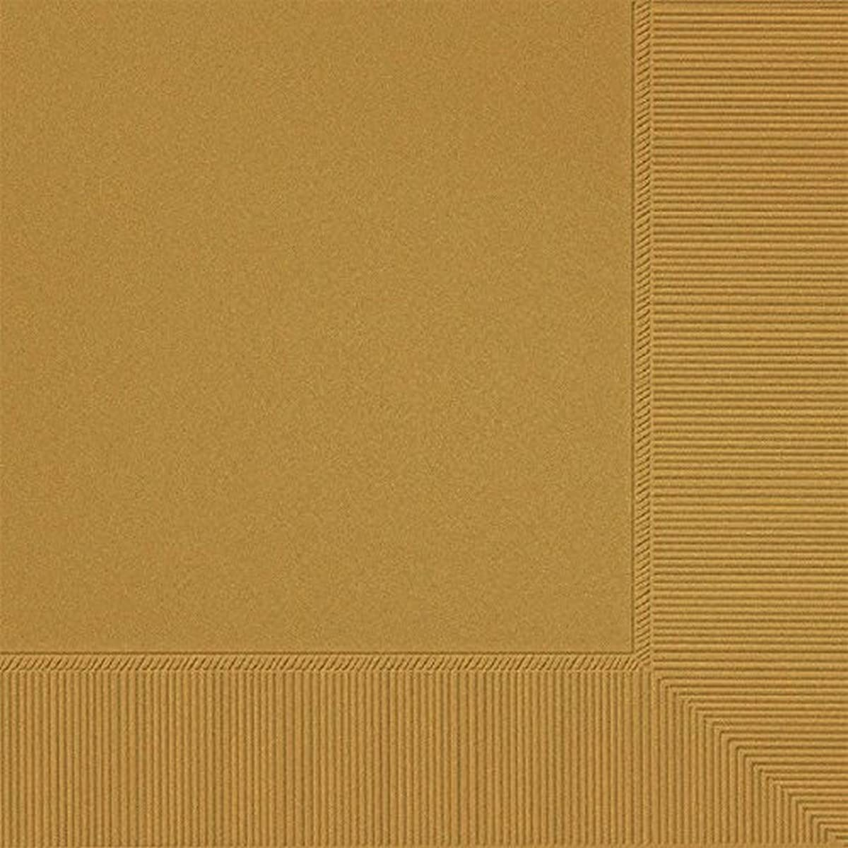 Gold 3-Ply Luncheon Napkins | Pack of 20 | Party Supply