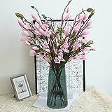 Dasongff Deko Magnolienzweig mit Blüten und Knospen 9 Köpfe Künstliche Gefälschte Blumen Haus Garten Party Blumenschmuck Kunst Deko