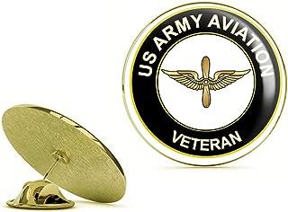 HOF Trading Gold U.S. Army Veteran Aviation Gold Lapel Pin Tie Suit Shirt Pinback