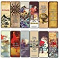 Creanoso Peter Pan Quotes Bookmarks (12-Pack) - Unique Art Print Design - Awesome Bookmarks for Bookworms, Men, Women – Six Assorted Bookmarks Designs - Page Book Clipping Wall Decal