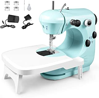 Sewing Machine, Portable Multifunctional Electric Sewing Machines for Beginners, Adjustable 2-Speed Double Thread Sewing M...