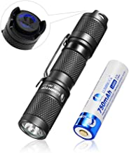 EDC Small Flashlight, LUMINTOP Tool AA 2.0 Set Torch with Rechargeable 14500 920mAh Battery and Magnetic Tail, 5 Modes wit...