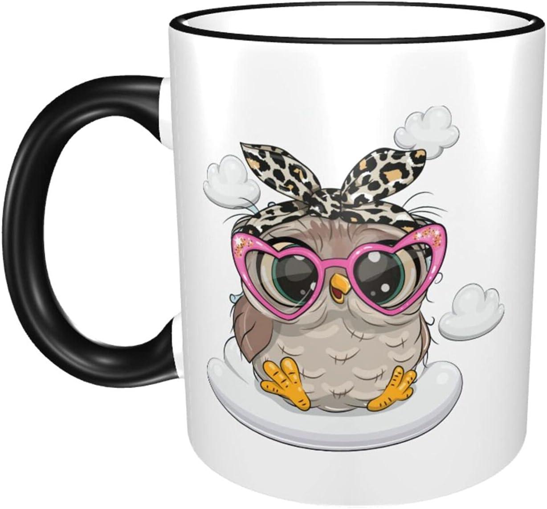 Owl 11oz Large Coffee Mugs Sturdy Ceramics Selling rankings Print Water Finally resale start Cute Cup