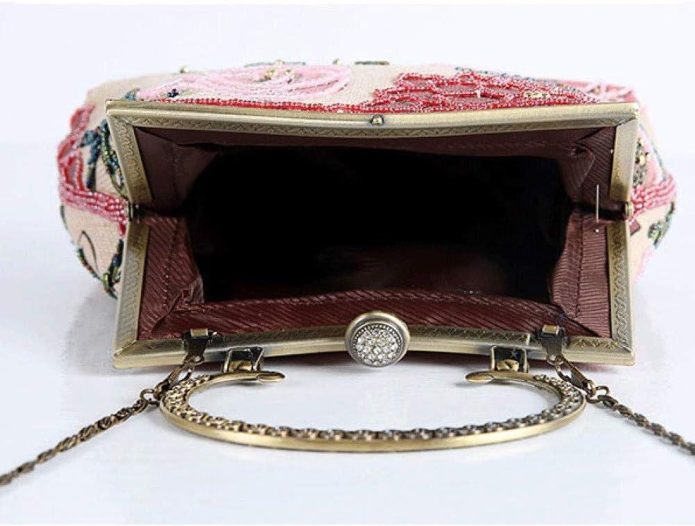 NA Sac à Main for Femme Soirée Antique avec Pochette Vintage (Color : D) E