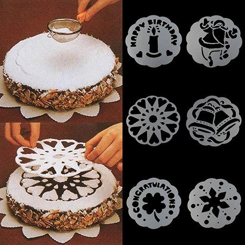 Ruby569y Keksausstechformen für Backen, 6 Stück Kuchen Stamping Formen Keks Gebäck Tiramisu Dekoration Form Werkzeug