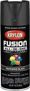 Krylon K02776007 Fusion All-in-One Spray Paint, Black