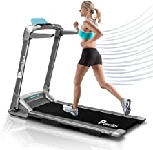 Powermax Fitness Unisex Adult UrbanTrek Motorised No Assembly 2.0 Hp Treadmill With Android And Iphone Application - White, Medium