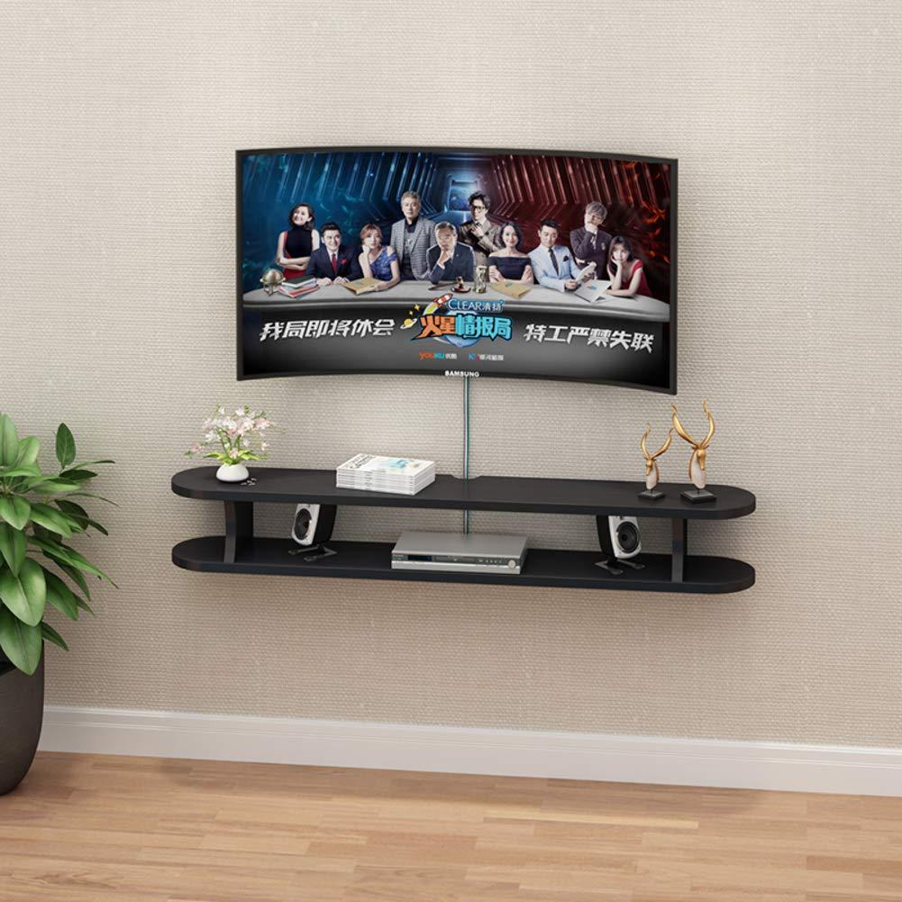 TriGold Moderno Nórdico Flotante TV Mueble,2 Nivel Pared Consola para TV Colgando Almacenamiento TV para Set-Caja De Cable Superior Negro 100x22x20cm(39x9x8inch): Amazon.es: Hogar
