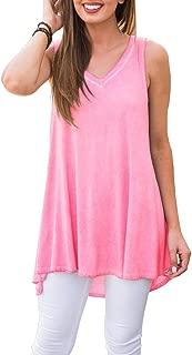 Women's Summer Sleeveless V-Neck T-Shirt Tunic Tops Blouse Shirts
