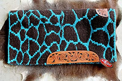 PRORIDER 34x36 Horse Wool Western Show Trail Saddle Blanket Pad Area Rug Turquoise 3672C