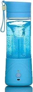 Icome USB كهربائي محمول USB عصير عصير صانع عصير زجاجة خلاط (أزرق)