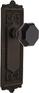 Nostalgic Warehouse 724547 Egg & Dart Plate Privacy Waldorf Black Door Knob in Oil-Rubbed Bronze, 2.375