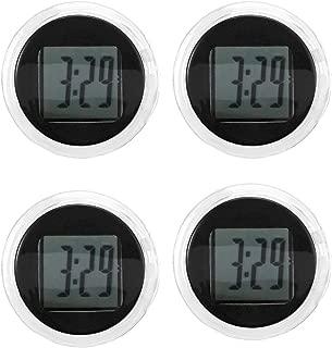 DDSKY Motorcycle Digital Clock, 4-Pack Universal Waterproof Stick-on Motorbike Handlebar Watch 1.1