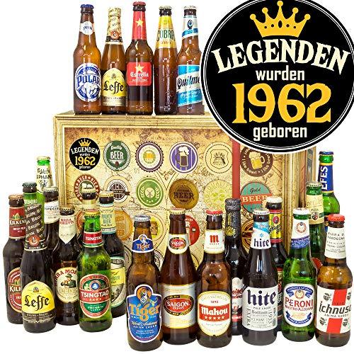 Legenden 1962 - Bierset - Biere der Welt - 1962 Geschenk Mann - Bier Geschenk Adventskalender