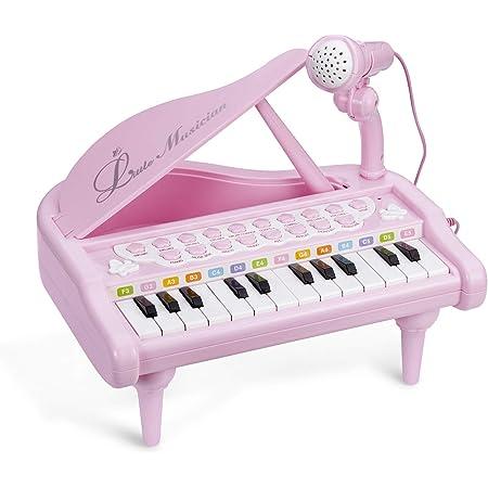ASTOTSELL Baby Piano Keyboard Toy, Rosa 24 Teclas Niños Piano Instrumentos Musicales con micrófono para niñas Juguetes de Regalo de cumpleaños ...