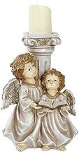 YIFEIJIAO, Suporte de vela retrô de resina com cilindro de anjo para Natal, casamento, vintage