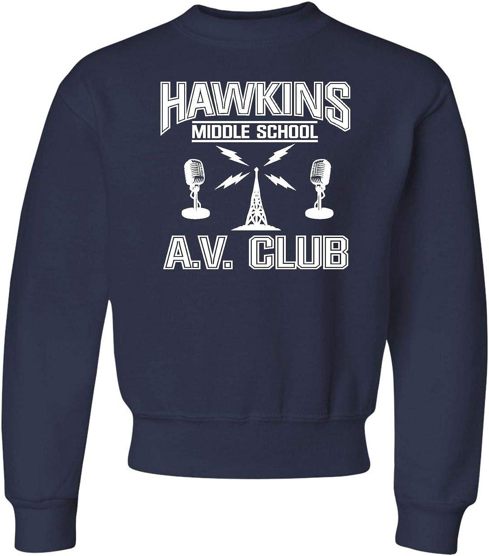 Go All Out Youth Hawkins Middle School AV Club Crewneck Sweatshi