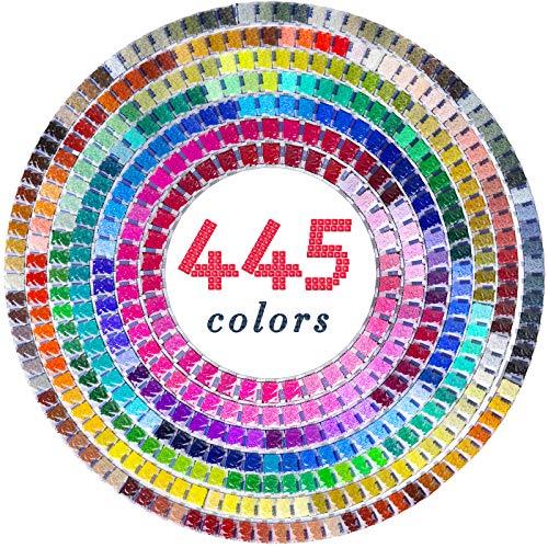 ARTDOT Accesorios de Pintura de Diamantes 445,000 Piezas 445 Colores Cuentas Cuadradas para Kits de Arte de Diamantes Manualidades para Adultos