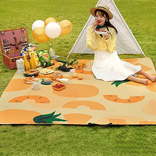 \t Manta De Picnic Extra Grande 190 × 300 Cm, Lavable A MáQuina, Impermeable, Plegable, Al Aire Libre, Alfombra De Playa para Senderismo, Viajes, Camping, Parrillas para Barbacoa, 8-10 Personas