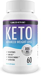 Flawless Keto Diet - Advanced Weight Loss Supplement - Ketogenic Fat Burner - Supports Healthy Weight Loss - Burn Fat Inst...