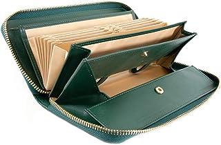 [ラフィカロ] 財布 レディース ギャルソンタイプ コインスルー 長財布 レザー 牛革 小銭とレシート 仕分け 大容量 じゃばらカード入れ ラウンドファスナー ガバっと開く小銭入れ ロングウォレット