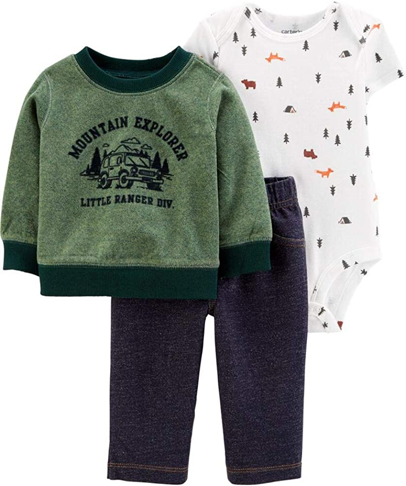 Carter's Baby Boys' 3-Piece Camping Little Pullover Set - 3 Months