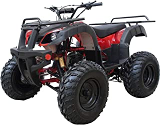 X-PRO ATV 200B Quad 4 Wheelers Utility ATV Full Size ATV Quad Adult ATVs Big Youth ATVs for Sale with Big Shining LED Headlight Fully Assembled and Tested (Burgundy)