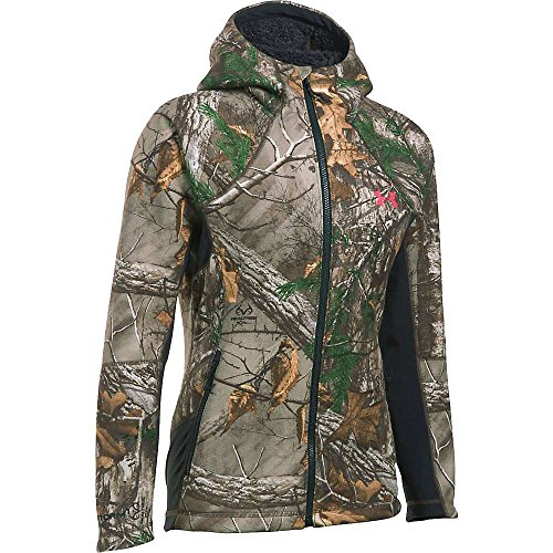 Under Armour Stealth Hoodie - Women's Realtree Ap-Xtra/Pink Chroma Small