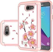Samsung Galaxy J3 Mission/J3 Eclipse/J3 Emerge/J3 Prime/J3 Luna Pro/Sol 2/Amp Prime 2/Express Prime 2 Case, MicroP Hybrid Dual Layer Silicone Phone Case for J3 2017 (Rose Gold)