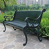 UWY Bancos de Parque de Hierro Fundido de Metal, Bancos de Malla metálica para terrazas de jardín al Aire Libre, Muebles Decorativos de jardín, sillas con respaldos y apoyabrazos, para terrazas,