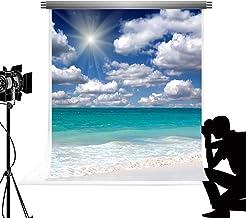 Kate 5X7ft/1.5x2.2m mar Playa Foto telón de Fondo Azul mar Cielo Nube Photocall Vivir la Naturaleza Fondo para fotografía Studio