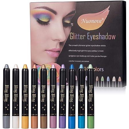 Eyeshadow Stick, Waterproof Eyeshadow, Eyeshadow Glitter, Eyeshadow Pencil, Ultra Pigmented Makeup Eye Shadow Powder Long Lasting Eye Shadow Pen Set 10 Colors