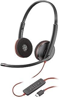 Plantronics Blackwire 3210 USB-A Headset, On-Ear Mono Headset, Wired (Renewed)