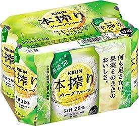 【果汁とお酒だけ】キリン本搾りチューハイ グレープフルーツ 350ml×6本