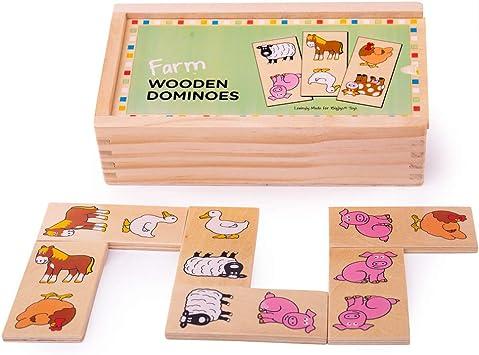 Wooden Domino Zoo Animals