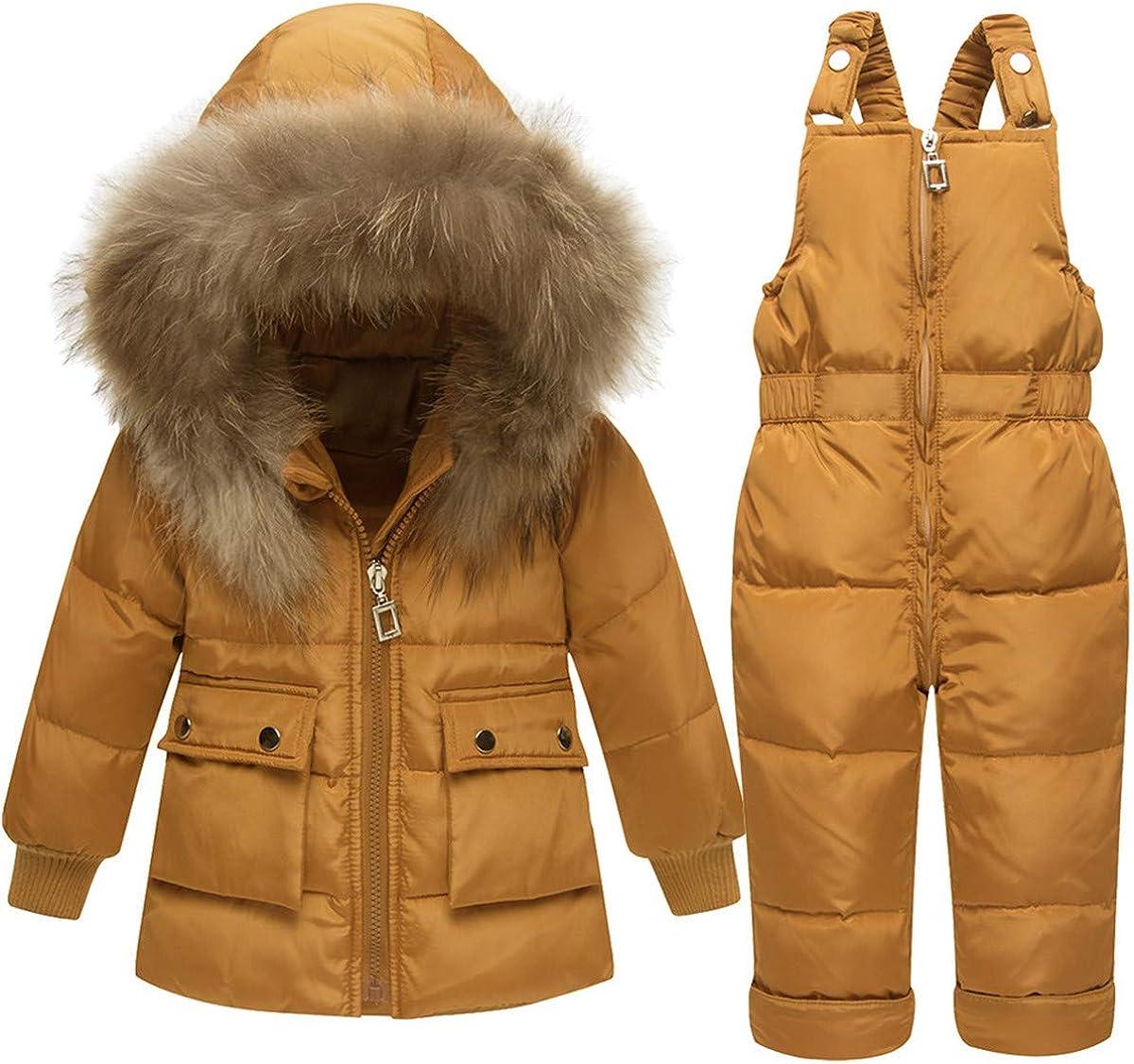 REWANGOING Baby Kids New Shipping Free Girls Winter Warm Pock Zipper Trim Fur 2Pcs Minneapolis Mall