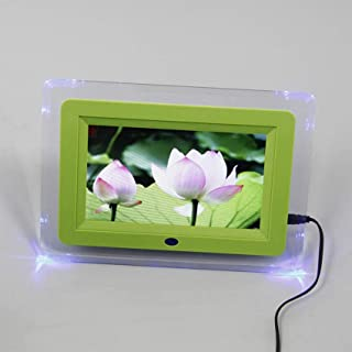 Digital Photo Frame, 7-inch with LED Light Acrylic Material Frame MP3 / MP4 Player Multi-Function Advertising Machine Elec...