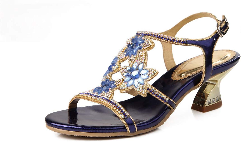 LLBubble Kitten Heels Rhinestone Wedding Bridal Sandals Open Toe Buckle Strap Prom Evening Formal Party Sandal ZX-L002