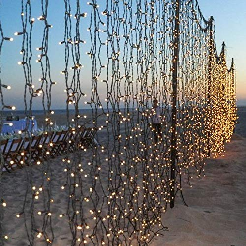 OZS- 2Pack Each 72FT 200LED Solar Lights Outdoor, Upgraded Super Bright Solar String Lights Outdoor Waterproof, 8 Modes Solar Christmas Lights for Wedding Patio Garden Tree Party (Warm White)